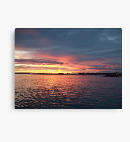 Sun Rising South End  Canvas Print