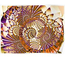 Abstract with spirals Poster