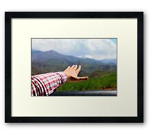 free hand - freedom in nature Framed Print