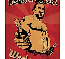 Beer and Bear - Want some of this? by BearYourArt