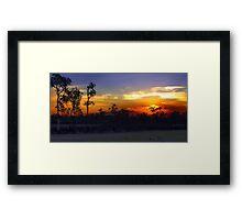 Waterhole sunset HDR Framed Print