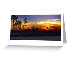 Waterhole sunset HDR Greeting Card