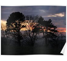 Sunset over the Esk Valley Poster