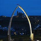 Whitby Abbey through Whalebones by queenbeecc
