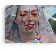Subway face Canvas Print