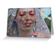 Subway face Greeting Card