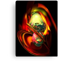 Raw Fury Abstract Canvas Print