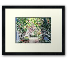 Roses in  a Swedish Courtyard Framed Print