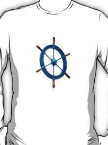 blue sailor wheel T-Shirt