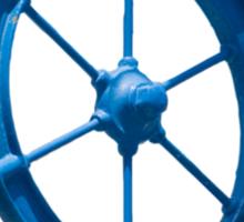 blue sailor wheel Sticker