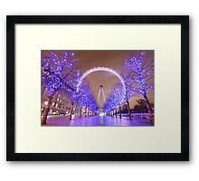 London Christmas Eye Framed Print