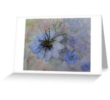 Love-in-the-mist ( The painting ) Greeting Card