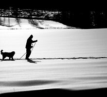 Skiing With a Friend by Ritva Ikonen