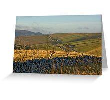 Looking Towards Hebden Moor Greeting Card