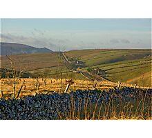 Looking Towards Hebden Moor Photographic Print