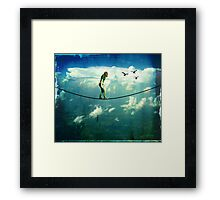 walking the fine line Framed Print