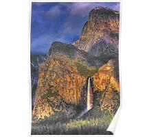 Bridalveil Falls, Yosemite Valley Poster