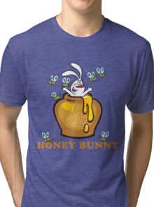 "Easter ""Honey Bunny"" Tri-blend T-Shirt"
