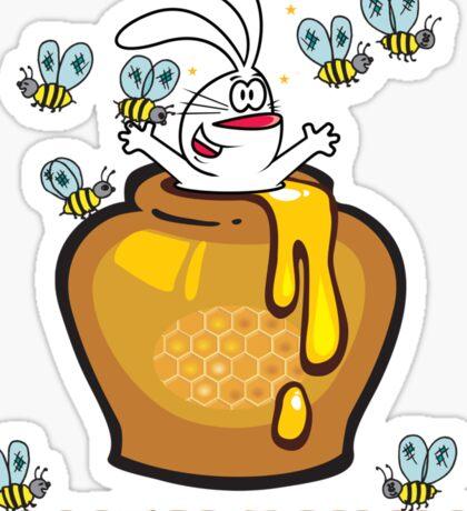 """Easter """"Honey Bunny"""" Sticker"""