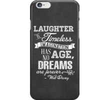 Laughter is Timeless in Mickey Black - Chalk Word Art iPhone Case/Skin