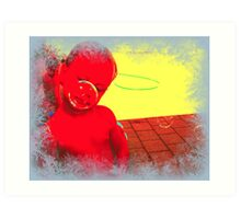 "'bubble boy""  DEEP IN THOUGHT Art Print"