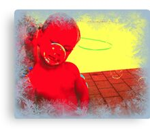 """'bubble boy""""  DEEP IN THOUGHT Canvas Print"""