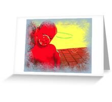"'bubble boy""  DEEP IN THOUGHT Greeting Card"