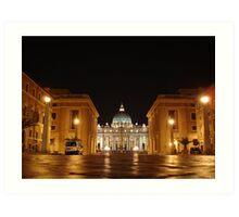 Evening prayer, St. Peter in Rome Art Print