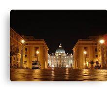 Evening prayer, St. Peter in Rome Canvas Print