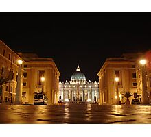Evening prayer, St. Peter in Rome Photographic Print