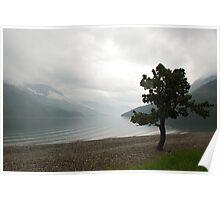 Waterton Lake from Waterton Town Canada Poster