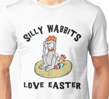 "Funny Easter Bunny ""Silly Wabbits Love Easter"" Unisex T-Shirt"