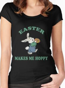 "Easter ""Easter Makes Me Hoppy"" Women's Fitted Scoop T-Shirt"