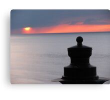 Sunset from West Cliff Canvas Print