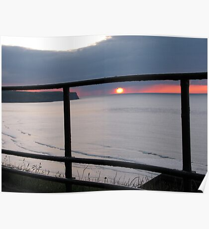 Sunset Through the Railings Poster