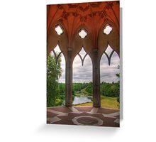 The White Tower - Painshill Park - HDR Greeting Card