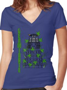 Germinate - Dr Who Women's Fitted V-Neck T-Shirt