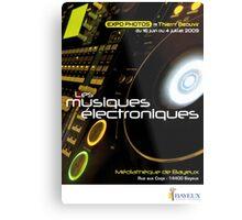 Affiche - Expo Les Musiques Eléctroniques Metal Print