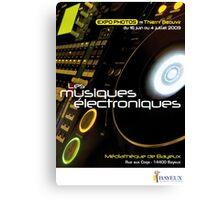 Affiche - Expo Les Musiques Eléctroniques Canvas Print