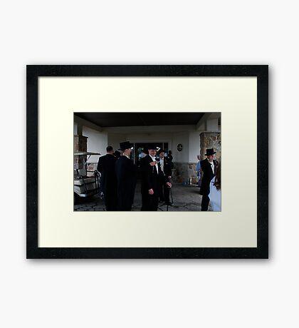 Doug & Groomsmen  Framed Print