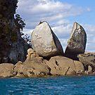 Split Apple Rock, Abel Tasman Nat'l Park, NZ by A.M. Ruttle