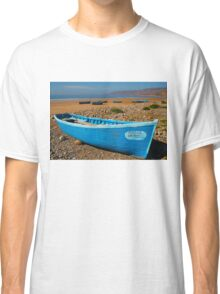 Blue fishing boat in Essaouira, Morocco Classic T-Shirt