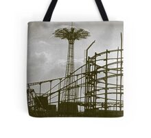 Coney Island Thunderbolt Ride and Parachute Jump Tote Bag