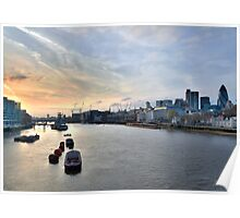 Sunset on the Thames Poster