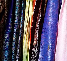 Multi-Colored South Asian Scarves by SylviaS