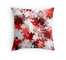 Red White Grey Black Abstract (5 of 6 please see notes)  Throw Pillow