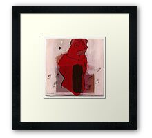 woman in the wind 2 Framed Print
