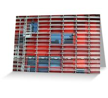 building with solar blinds Greeting Card