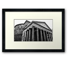 The Pantheon, Rome, Italy. Framed Print