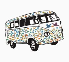 Summer of Love Campervan T-Shirt by simpsonvisuals
